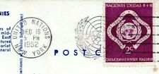 1952 United Nations Stamp Postmark Cancel Peace Justice Security Postcard BZ
