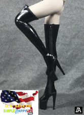1/6 Fashion Over The Knee High Heel Boots For Hot Toy PHICEN Female Figure ❶USA❶