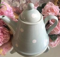 Pale GREEN White POLKA DOT SUSIE WATSON LARGE TEA POT Very Lovely Rare READ DESC