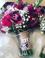 Wedding Photo Memory Charms, Bridal Wedding Bouquet Pendant**free print**