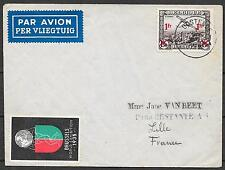 Belgium covers 1935 Airmailcover Oostende to Lille