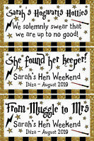 2 x PERSONALISED HARRY POTTER BANNERS Muggle to Mrs Hen Party Banner