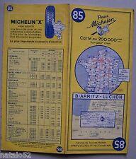 carte MICHELIN 85 BIARRITZ - LUCHON - 1962