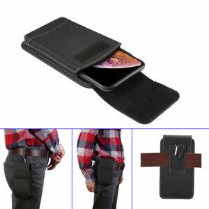 Universal Nylon Belt Hook Pouch Case For iPhone Samsung Model Holster Fasten Bag