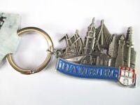 Hamburg Schlüsselanhänger Collage Hafen,Michel,Elbphilharmonie,Souvenir Germany