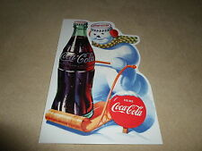 """CUTE Snowman Coca~Cola Christmas Card By American Greetings~7 1/4"""" X 4 3/4"""", NEW"""