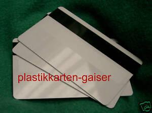 100 Magnetkarten mit U-Feld  Plastikkarten Ausweise