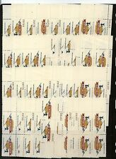 US1341  $1.00 airlift stamp    38 plate blocks  Mint   NH