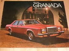 1980 FORD GRANADA 15 PAGE  SALES BROCHURE AD