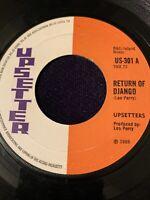 UPSETTERS Return Of Django UPSETTER 45, SKA REGGAE ORIG RECORD RARE VINYL