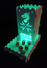Dice Tower Dragon Clan With Tray and light up Tea Light - Role Playing Games
