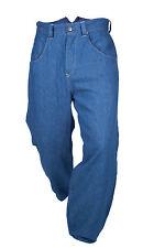 Levis RED RANGE Foderato Fishtail a coda di Nuovo & Cinch caduto Cavallo Blue Jeans W32 nuovo senza etichetta