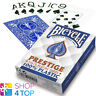 BICYCLE PRESTIGE 100% KUNSTSTOFF SPIELKARTEN KARTEN JUMBO INDEX BLAU POKER NEU