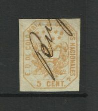 Colombia SC# 24, Used, v shallow, sm ctr thin - S11090