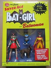 DC DIRECT CLASSIC SILVER AGE BATGIRL AND BATWOMAN ACTION FIGURE SET, SCARCE
