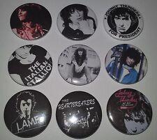 9 Johnny Thunders badges Jet Boy L.A.M.F The New York Dolls CBGB's punk scene