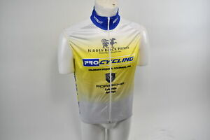 Medium Men's Verge Colorado Springs Pro Cycling Warehouse Wind Vest Wht CLOSEOUT