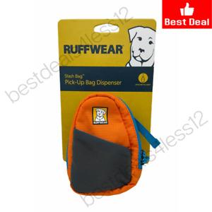 Ruffwear Stash Orange Poppy Bag Pick-Up Bag Dispenser for Dog Owners