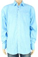 Bugatchi Mens Button Down Shirt Ice Blue Size Large L Classic Fit $149 551