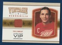 TED LINDSAY 03-04 IN THE GAME VIP 03-04 VINTAGE MEMORABILIA JERSEY RARE 16201