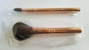 bareMinerals Light Stroke Fan & Tapered Crease Defining Eye Brush Rose Gold QVC