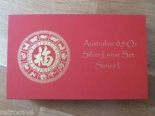 AUSTRALIAN Lunar Series 1 MEDAGLIA box per 9 x 1/2 (0,5) Oz Argento LINGOTTO monete