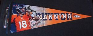 Denver Broncos Peyton Manning orange player premium pennant NFL variety 1