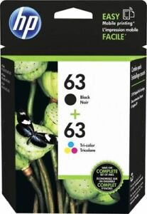 63 Combo Ink Cartridges 63 Black & Color&& HP₃GENUINE