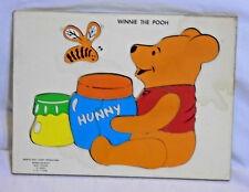 WINNIE THE POOH * Puzzle * Vintage - Disney - Honey - Bee