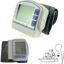 Healthy Automatic Wrist Cuff Digital LCD Screen Blood Pressure Pulse Monitor