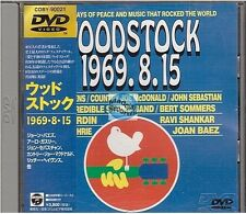 WOODSTOCK 1969.8.15/17 2 DVD japan japon COBY-90021/23 jimi hendrix cocker baez