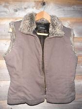 Principles Faux Fur Lined Brown Gilet/Waistcoat Size 12