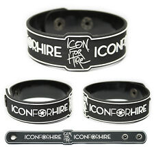 ICON FOR HIRE Rubber Bracelet Wristband Scripted Counting on Hearts