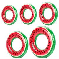 Outdoor Watermelon Swimming Ring Inflatable Pool Float Circle for Adult Kid A#S