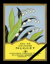 Vintage French Perfume Soap Label: Muguet Antique Cologne Parfumerie Etoile