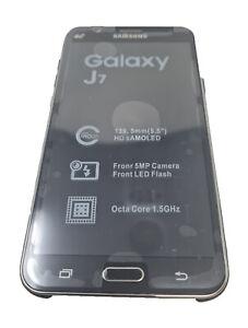 "Samsung Galaxy J7 SM J700F 4G Unlocked BLACK Refurbished 5.5"" Complete Dual Sim"