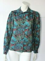 Vintage Liberty by Thomas & Jonathan Wool Green,Blue,Turquoise Blouse New UK 10