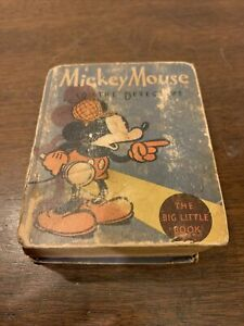 """MICKEY MOUSE """"The Detective"""" By Walt Disney! THE BIG LITTLE BOOK, 1934 1st Edit."""