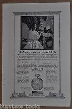 1917 GRUEN advertisement, Gruen Verithin pocket watch, Ultrathin