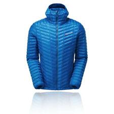 Montane Mens Icarus Lite Jacket Top - Blue Sports Outdoors Full Zip Hooded Warm