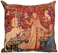 """LADY & UNICORN 5 SENSES SERIES, THE TASTE 18"""" TAPESTRY CUSHION COVER WITH ZIP"""