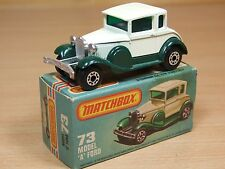 MATCHBOX SERIES 75 73 MODEL A FORD CREAM AND GREEN EXCELLENT CONDITION (450)