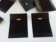 20 Black Earring Display Cards for Stud or Drop Earrings Jewellery Packaging