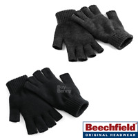 BEECHFIELD FINGERLESS GLOVES SOFT KNITTED WARM OPEN HAND WARMERS UNISEX SIZES