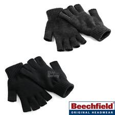 BEECHFIELD FINGERLESS GLOVES SOFT KNITTED WARM OPEN HAND WARMERS UNISEX SIZES