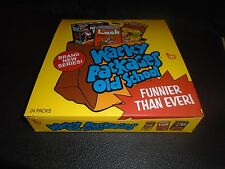 WACKY PACKAGES OLD SCHOOL 2  FULL BOX WITH 24 PACKS AND POSTER WOW!!!