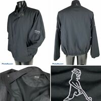 Ping Golf Windbreaker Jacket Pullover Lined Black Size Large Allianz Championshi