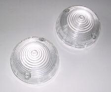 Lucas L691 Pair of Clear Side & Reversing Light Lenses. Triumph, Austin, Imp