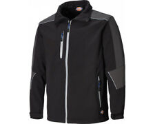 Dickies Jw7009 Glenwood Softshell Waterproof Refective Piping Work Jacket Black XL