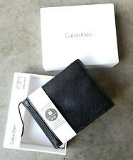 CALVIN KLEIN Men's Black Saffiano Billfold Wallet, RFID